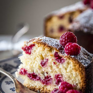 Yogurt Raspberry Cake.