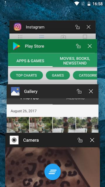 Aplikasi background boleh scroll ke atas dan ke bawah