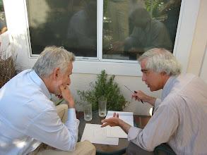 Photo: Professors Edi Karni and Mark Machina