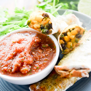 Southwestern Egg Rolls with Salsa Dipping Sauce