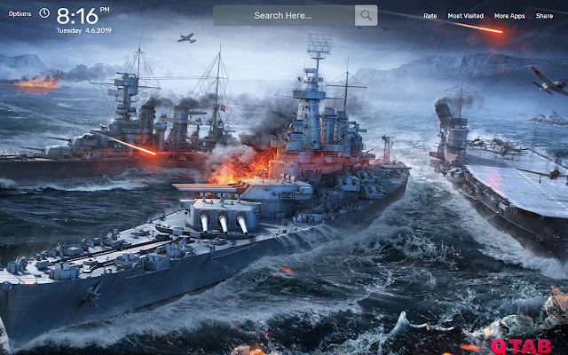 World of Warships Wallpapers HD Theme