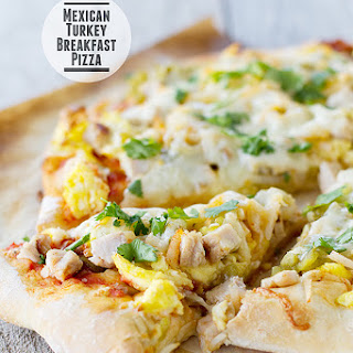 Mexican Turkey Breakfast Pizza.