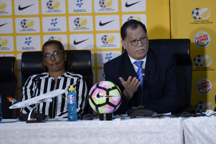 Danny Jordaan (President) during the SAFA Press Conference with national team coaches at SAFA House on July 26, 2018 in Johannesburg, South Africa.