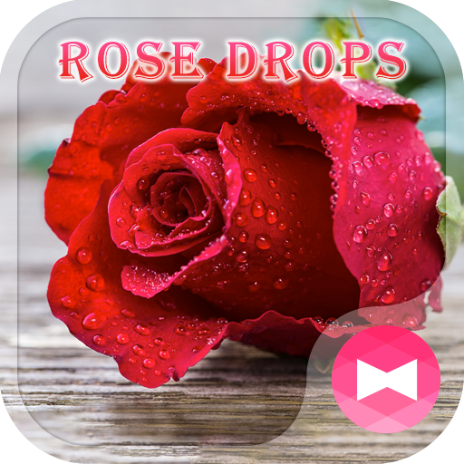 Beautiful Wallpaper Rose Drops Theme Icon