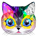 Polyart Coloring by Numbers icon