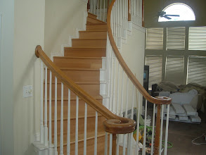 Photo: installer hardwood flooring to steps by FLOORS We DO.