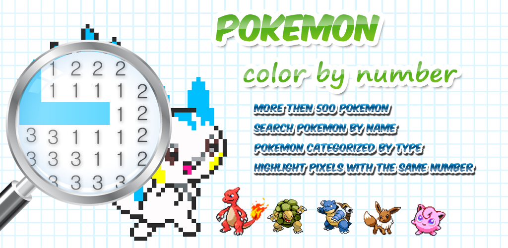 Color by Number Pokemon Pixel Art 1.0 Apk Download - besutotaimu ...