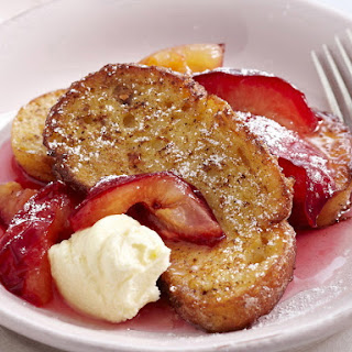 French Toast with Plum Syrup