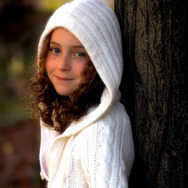 Morgan by Sandy Considine - Babies & Children Child Portraits ( fall colors, young girl, curly hair )