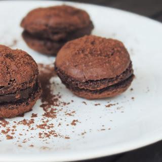 Chocolate Macarons.