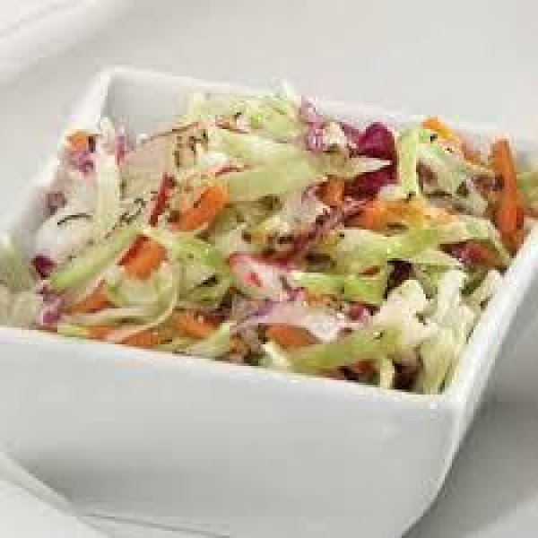 Coleslaw With Basil And Garlic Vinaigrette Recipe