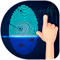 Fingerprint thermometer body icon