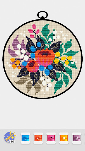 Cross Stitch Club u2014 Color by Numbers with a Hoop 1.4.12 screenshots 5