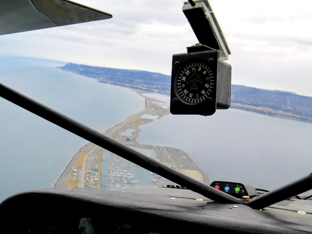 Flying over Homer Spit
