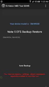 IMEI(EFS) Tool N5 S6 E+ [Root] v1.2