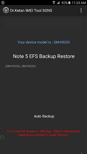 IMEI EFS Tool N5 S6 E+ [Root]
