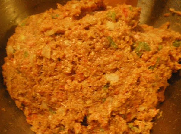 In your mixing add all meatloaf ingredients and mix until well incorporated.  If...
