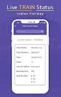 screenshot of Indian Railway Train Status