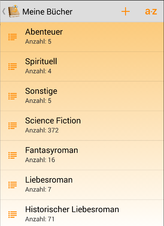 Bücherwurm – Screenshot