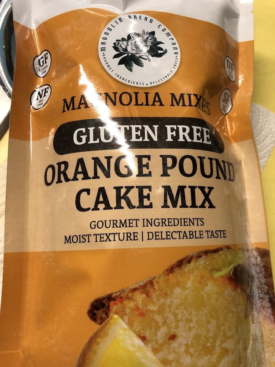 Orange Pound Cake Mix
