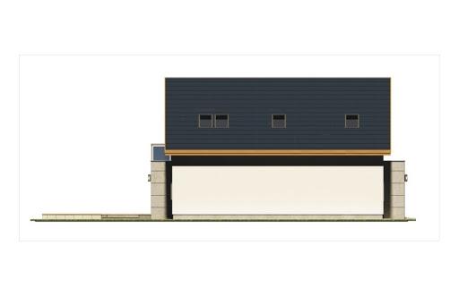 Alamo wersja C z podwójnym garażem - Elewacja lewa