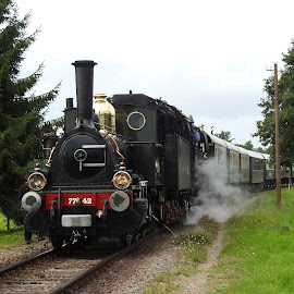Old Dutch steamloc by Bob Has - Transportation Trains ( old, holland, dutch, loc, oldtimer, steam )
