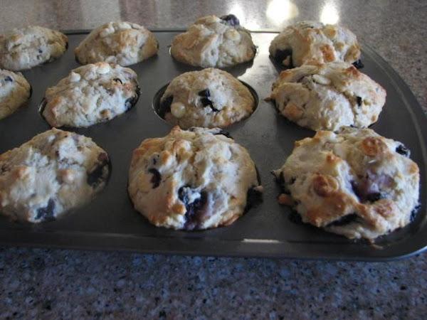 Blueberry-white Chocolate Chip - Pecan Muffins Recipe