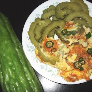 Bitter Melon with Scrambled Eggs and Rice.