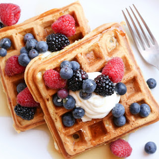 Fluffy Sour Cream Waffles