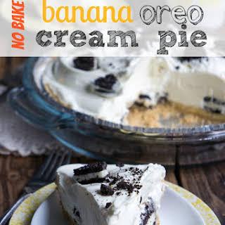 No Bake Banana Oreo Cream Pie.