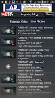 Screenshot of WFXG First Alert Weather