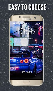 Skyline Drift Lock Screen - náhled