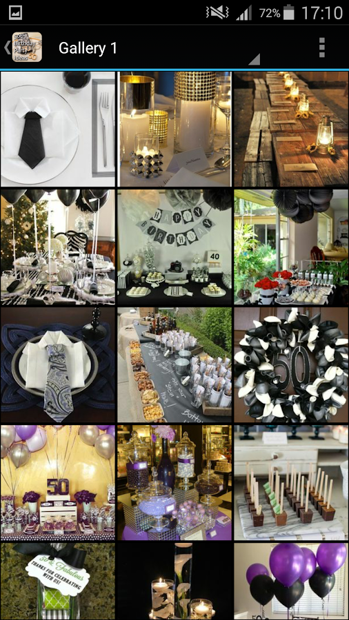 50th Birthday Party Ideas Screenshot