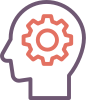 Brain gear icon.