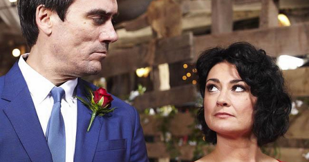 Natalie J. Robb enjoys kissing scenes with Jeff Hordley