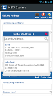 INSTACouriers-Courier Booking screenshot