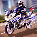 Police Motorcycle Urban Drive Icon