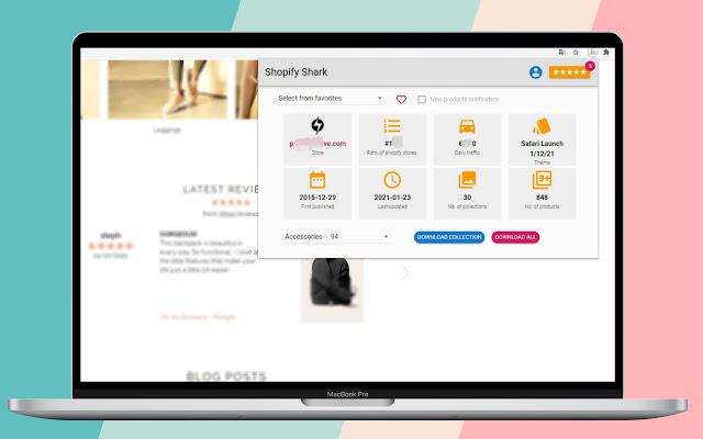 Shopify SHARK - Product scraper & store spy