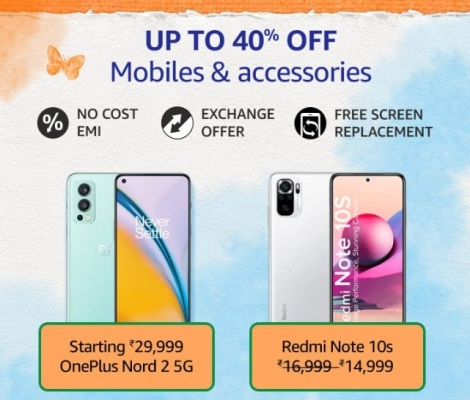Amazon Great Freedom Sale Mobiles & Accessories
