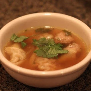 Lemongrass and Ginger Pork Wonton Soup