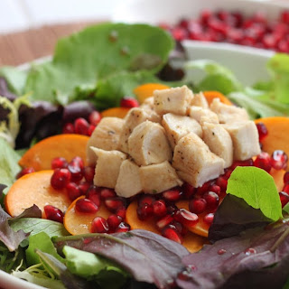 Pomegranate and Persimmon Salad.