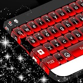 Red Neon Keyboard Theme