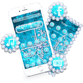 Crystal Blue Butterfly Diamonds Theme