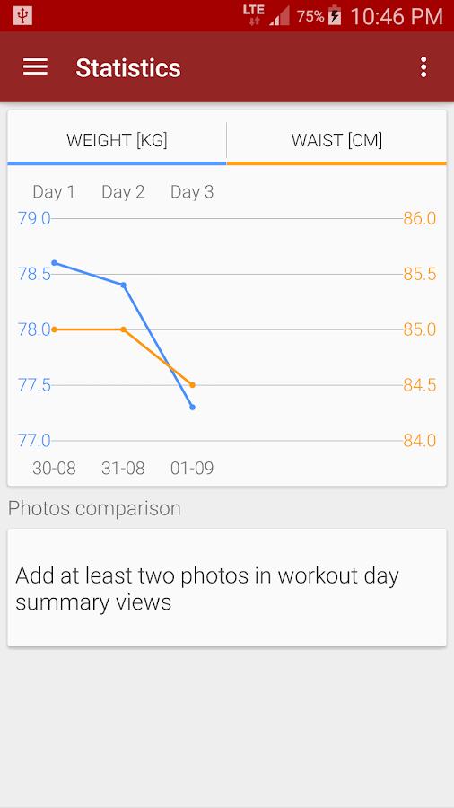 Abs workout- screenshot