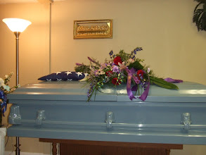 Photo: after the casket is closed for the last time.