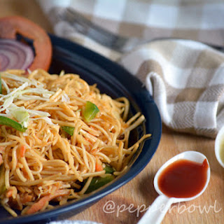 Easy Spicy Szechuan Noodles Recipe – Indo Chinese Vegetarian