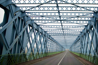 Photo: For +BridgesOverTuesday +#BridgesAroundTheWorld I found this photo of a bridge across the Gironde river in France from Dezember 2008 in my archive.  #bridgesaroundtheworld   #bridgesovertuesday