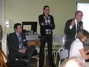 Photo: Le Professeur Chobaut, M. Lhospice et M. Jacquiot