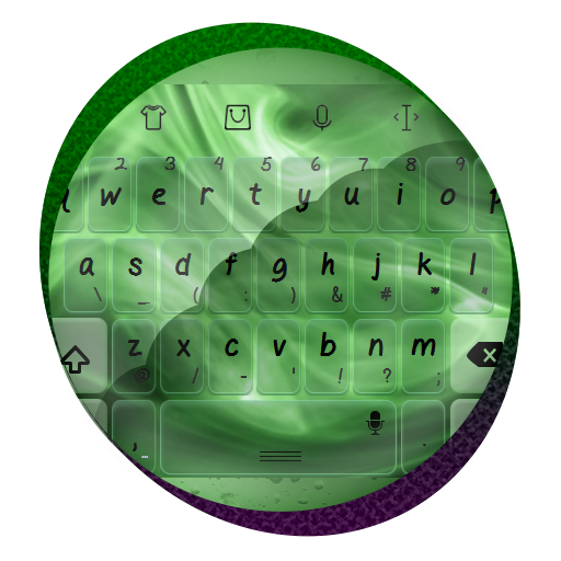绿色的火焰 TouchPal 主题 個人化 LOGO-玩APPs