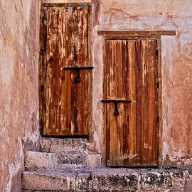 Two Doors by Richard Michael Lingo - Buildings & Architecture Architectural Detail ( doors, buildings, detail, morocco, architecture )